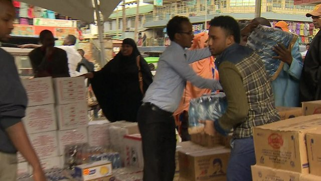 The Kenyan Somali community delivering aid and supplies