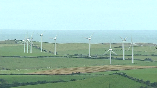 Wind turbines in north Wales