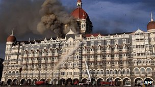 Taj Mahal Hotel in Mumbai following attacks in 2008