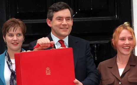 Gordon Brown prepares to deliver his 1997 budget