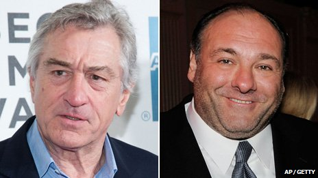 Robert De Niro and James Gandolfini