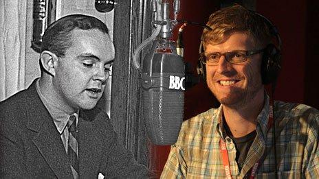 L to R: John Foreman, BBC European Service, 1943, and Neil Edgeller, BBC Learning English