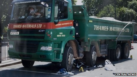 The lorry that killed Catriona Patel