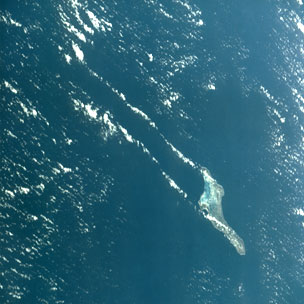 Christmas Island from space