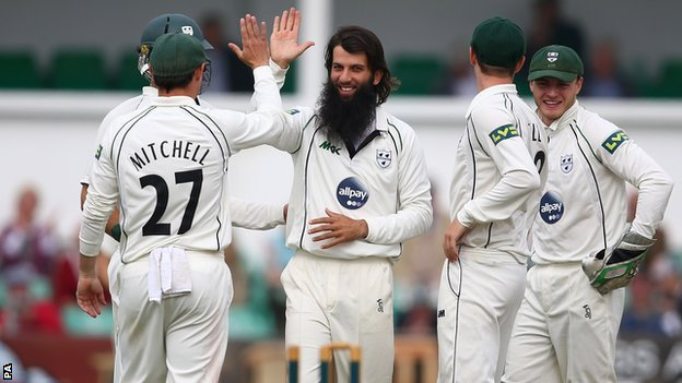 Moeen Ali celebrates another wicket
