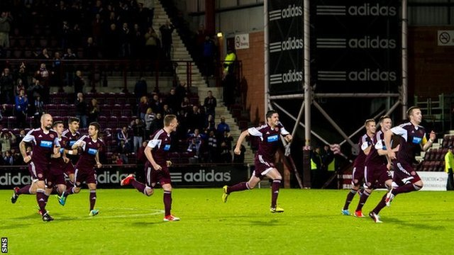 Highlights - Hearts 3-3 QoS (aet, 4-2 on pens)