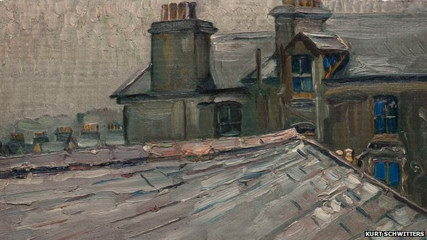 Untitled (Roofs of Houses in Douglas, Isle of Man), 1941