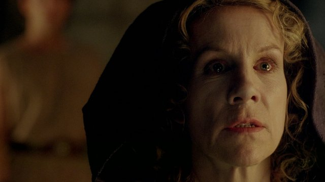 Actress Juliet Stevenson starring as The Oracle in Atlantis, a Greek mythology adventure from the makers of Merlin which starts on Saturday 28th September.