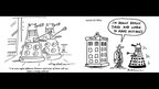 Dalek cartoons by David Haldane and Nick Newman