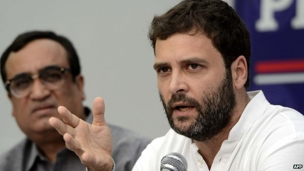 Vice President of the Indian National Congress, Rahul Gandhi speaks during a program at the Press Club in New Delhi on September 27, 2013