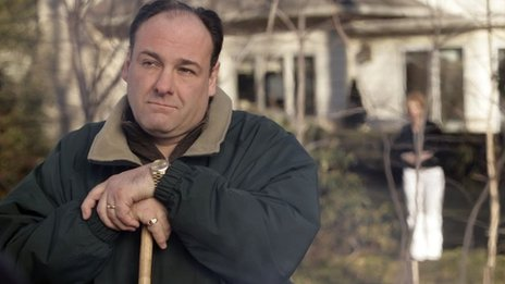 James Gandolfini in the final episode of The Sopranos