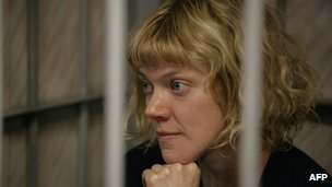Greenpeace International activist Sini Saarela in court in Murmansk, 26 September