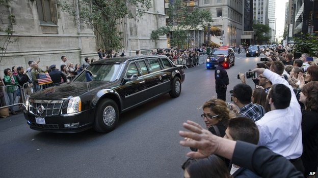 Barack Obama's motorcade