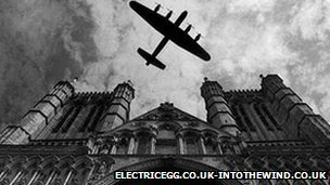 Lancaster Bomber over Lincoln Cathedral