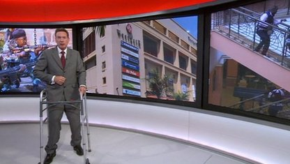 Frank Gardner in BBC News studio