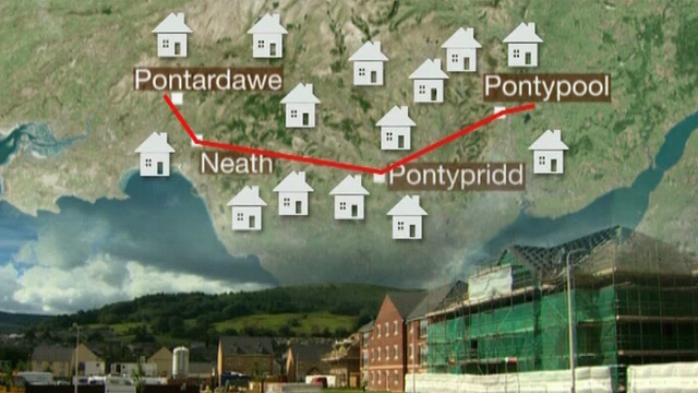 The company's snowline running from Pontardawe to Pontypool