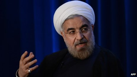 Iranian leader Hassan Rouhani, 26 September 2013