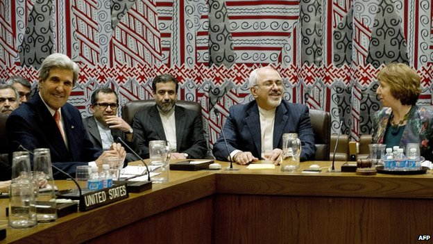 The five permanent members of the United Nations Security Council plus Germany meet with Iran over their nuclear program on 26 September 2013 on the sidelines of the General Assembly at UN headquarters in New York.