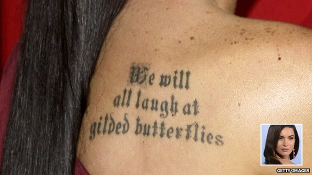 Megan Fox's text tattoo