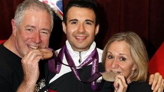Will Bayley with his parents Garry and Chrissie