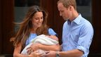 Duke and Duchess of Cambridge show their new-born baby boy
