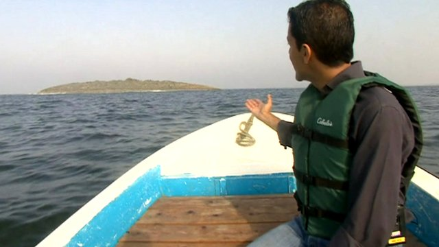 The BBC's Aleem Maqbool visited the island