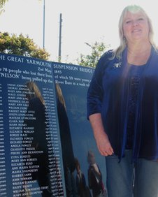 Julie Staff and the Great Yarmouth memorial
