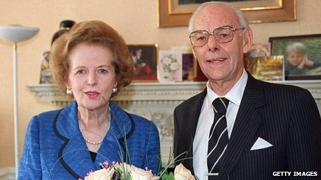 Baroness Thatcher with husband Sir Denis