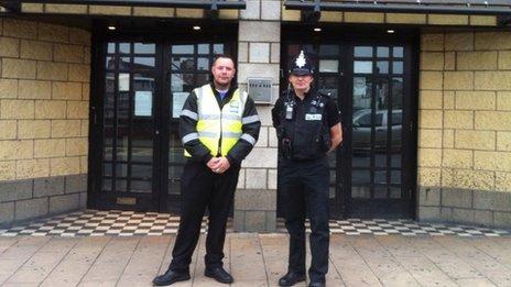 Street marshal Brian Jarvis and PC Paul Daw
