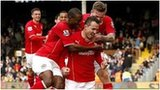 Jordon Mutch is mobbed by his Cardiff team-mates