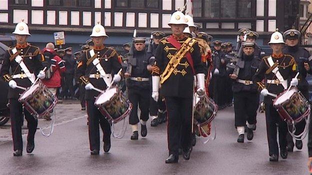 Britannia Royal Naval College freedom parade, September 2013