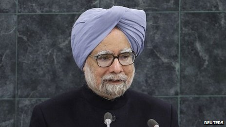 Indian PM Manmohan Singh speaks at the UN General Assembly. Photo: 28 September 2013