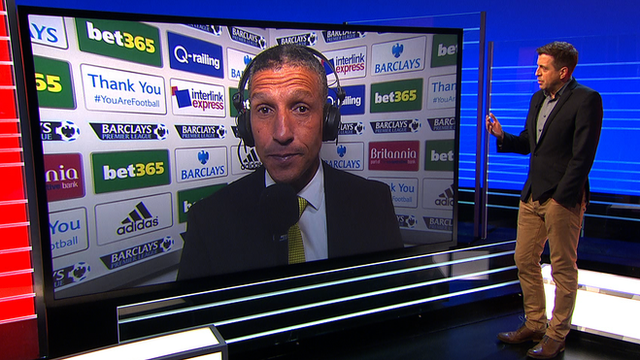 Chris Hughton speaks to Mark Chapman