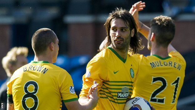 Scott Brown, Georgios Samaras and Charlie Mulgrew