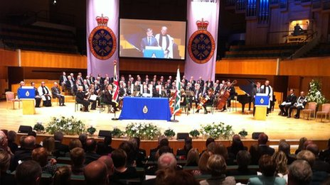 The National Police Memorial Day Service in Cardiff