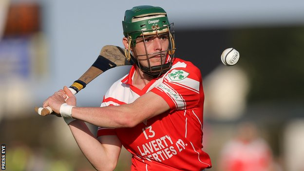 Benny McCarry hit 2-1 for Loughgiel in the Antrim final