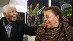 Nelson Mandela and wife, Graca Machel