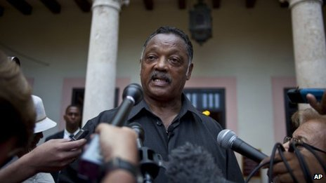 Rev Jesse Jackson in Cuba