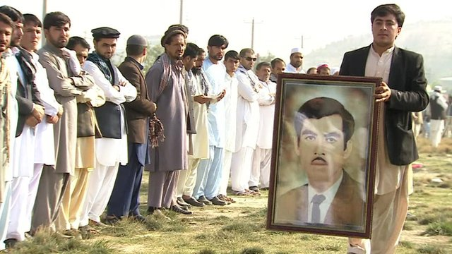 A memorial service in Afghanistan