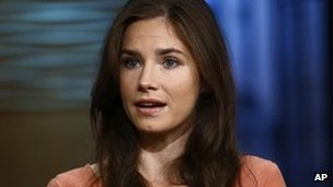 Amanda Knox during an NBC interview, 20 September 2013