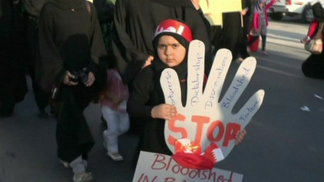 Girl at protest