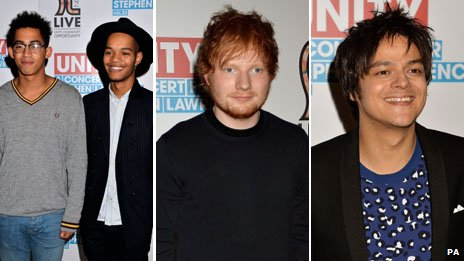Rizzle Kicks, Ed Sheeran and Jamie Cullum