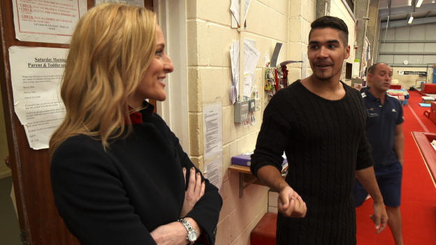 Gabby Logan meets Louis Smith