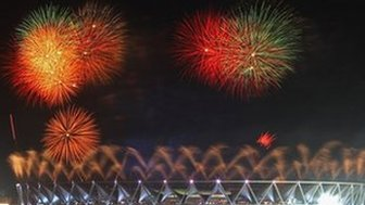 Fireworks over Delhi stadium