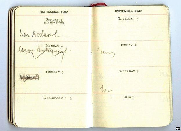 Chamberlain's diary
