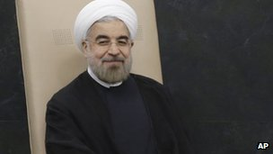 Iranian PM Hassan Rouhani (Sept 2014)