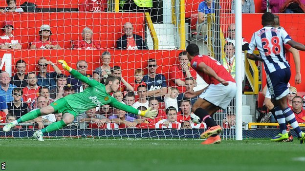 Saido Berahino scores Albion's winner at Old Trafford