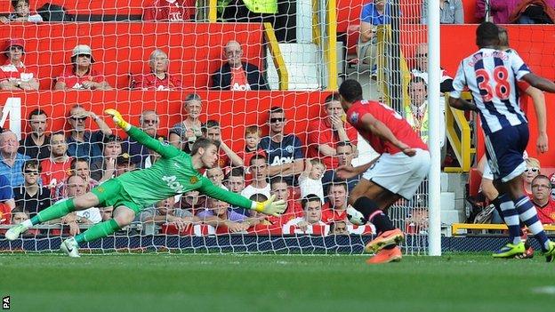 Saido Berahino scores Albion's winner at Old Trafford