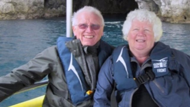 Barry and Jean Mustill on holiday
