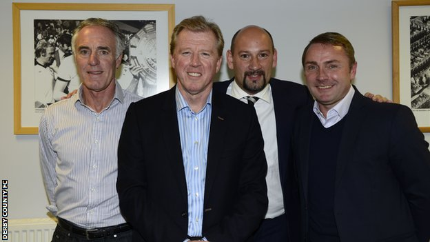 Eric Steele, Steve McClaren, Sam Rush and Paul Simpson